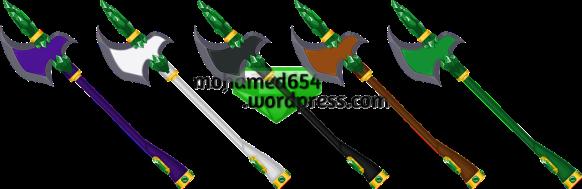 Emerald Vanguard Poleaxe