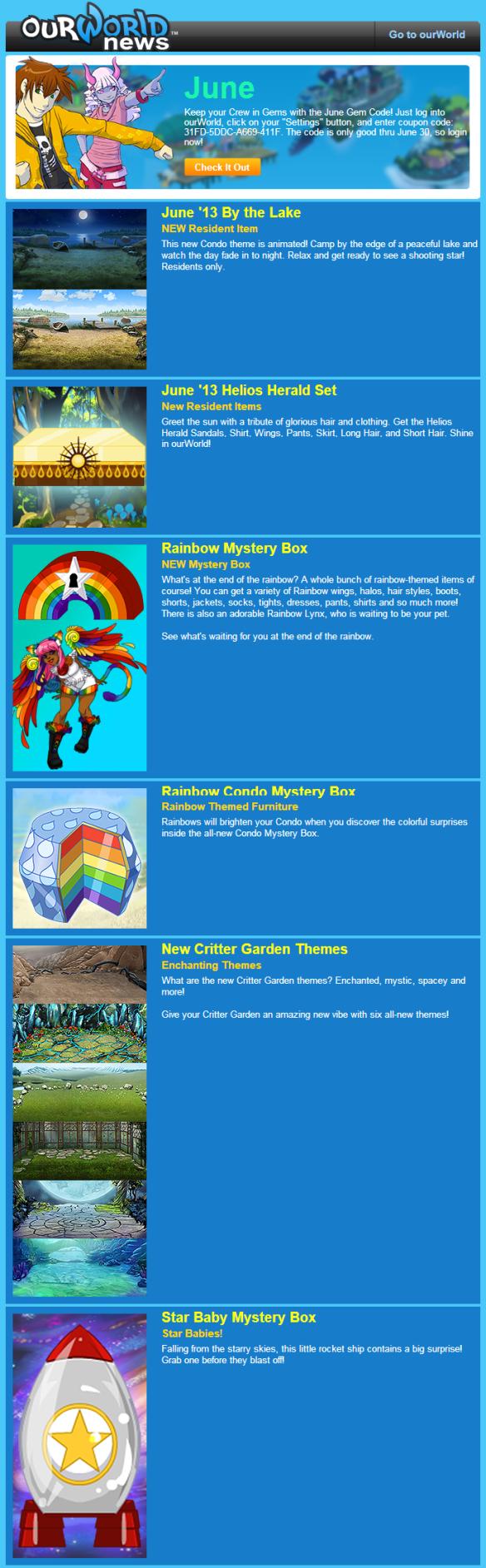 June 2013 Monthly Newsletter